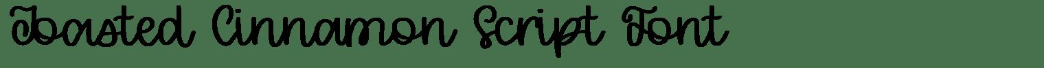 Toasted Cinnamon Script Font