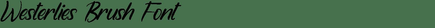 Westerlies Brush Font