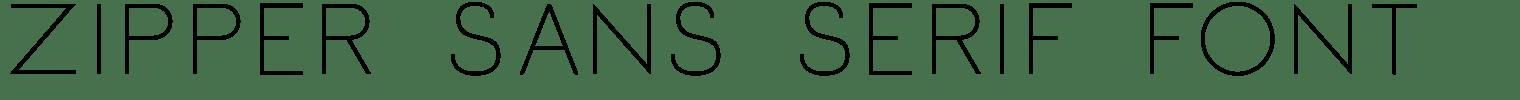 Zipper Sans Serif Font
