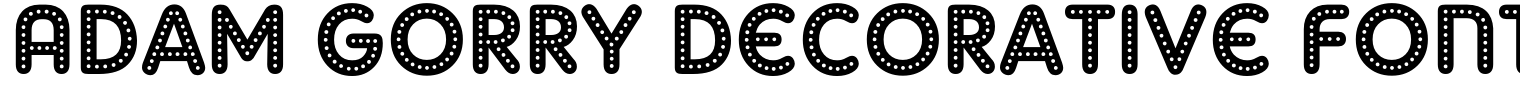 Adam Gorry Decorative Font