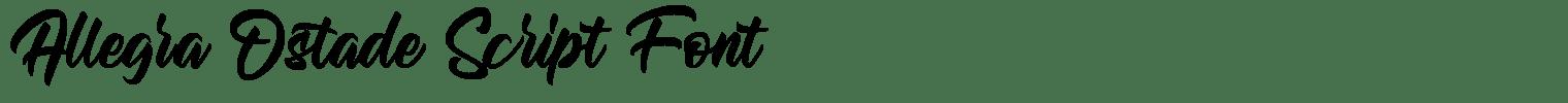 Allegra Ostade Script Font