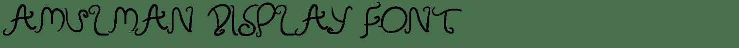 Amulman Display Font