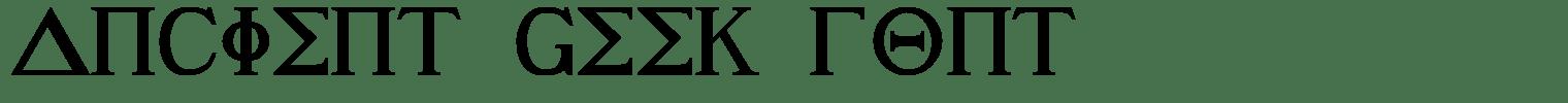 Ancient Geek Font