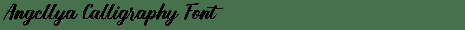 Angellya Calligraphy Font