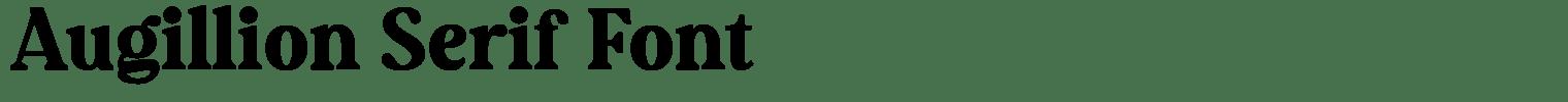 Augillion Serif Font