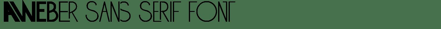 Aweber Sans Serif Font