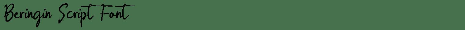 Beringin Script Font