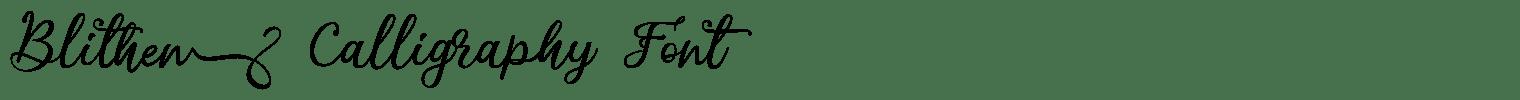 Blithen Calligraphy Font