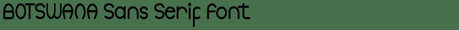 BOTSWANA Sans Serif Font
