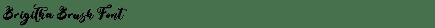Brigitha Brush Font