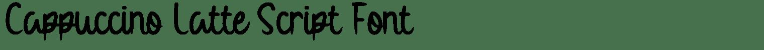 Cappuccino Latte Script Font
