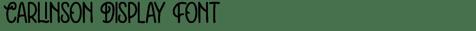 Carlinson Display Font