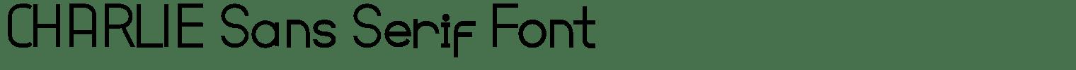 CHARLIE Sans Serif Font