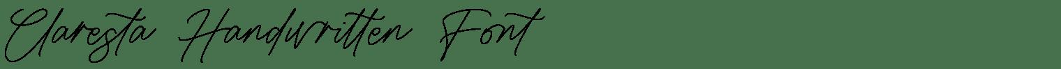 Claresta Handwritten Font