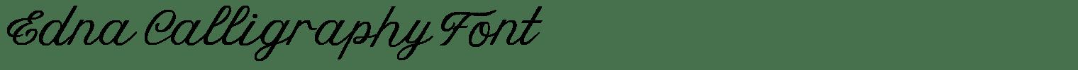 Edna Calligraphy Font