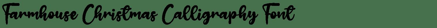 Farmhouse Christmas Calligraphy Font