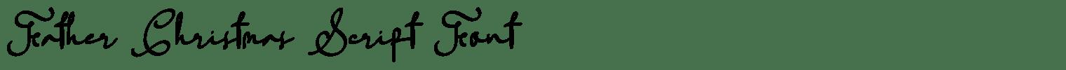Father Christmas Script Font
