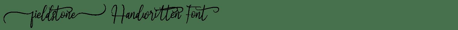 Fieldstone Handwritten Font