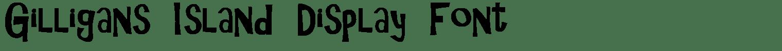 Gilligans Island Display Font