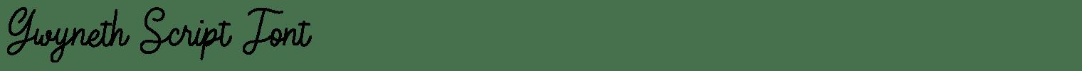 Gwyneth Script Font