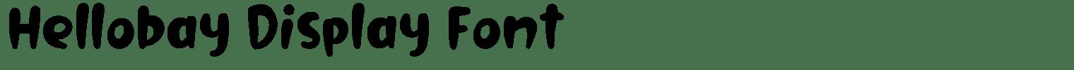 Hellobay Display Font