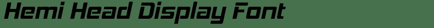 Hemi Head Display Font