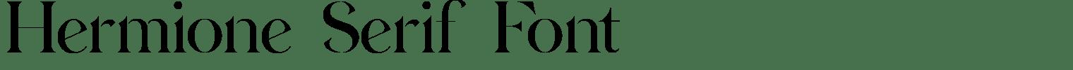 Hermione Serif Font