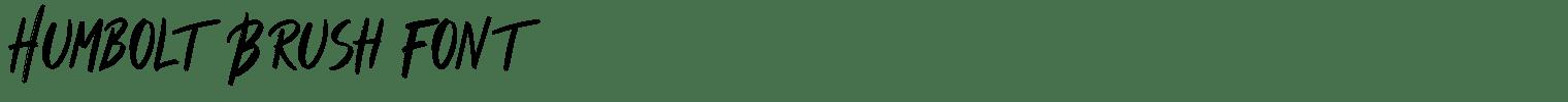 Humbolt Brush Font