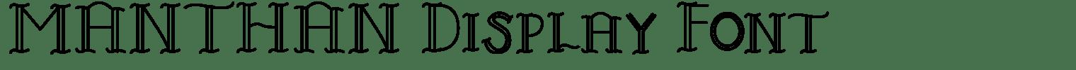 MANTHAN Display Font