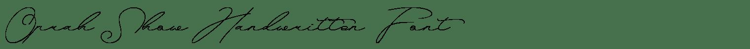 Oprah Show Handwritten Font