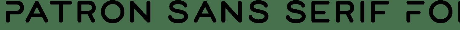 Patron Sans Serif Font