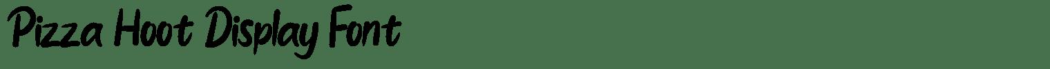 Pizza Hoot Display Font