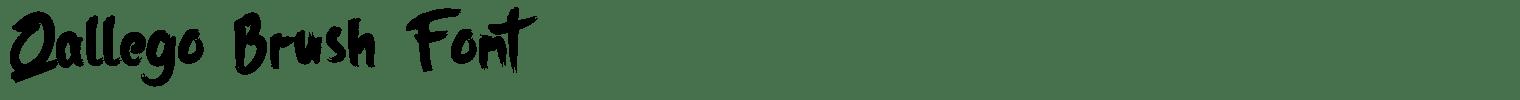 Qallego Brush Font