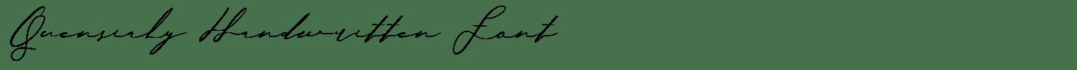 Quensialy Handwritten Font
