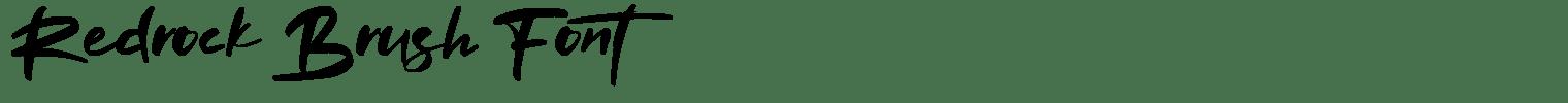 Redrock Brush Font