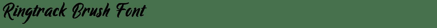 Ringtrack Brush Font