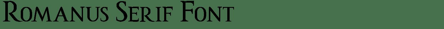 Romanus Serif Font