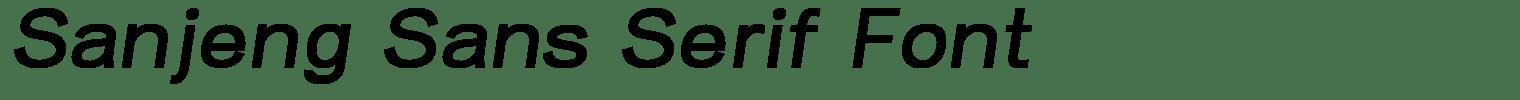 Sanjeng Sans Serif Font