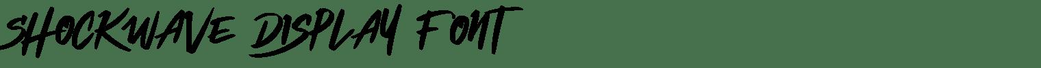 Shockwave Display Font
