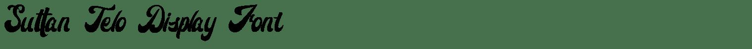 Suttan Telo Display Font