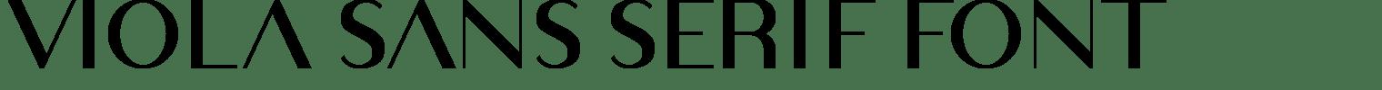 Viola Sans Serif Font