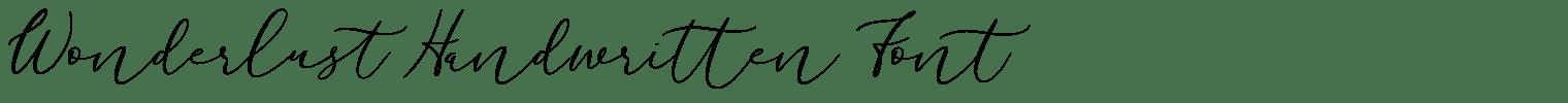 Wonderlust Handwritten Font