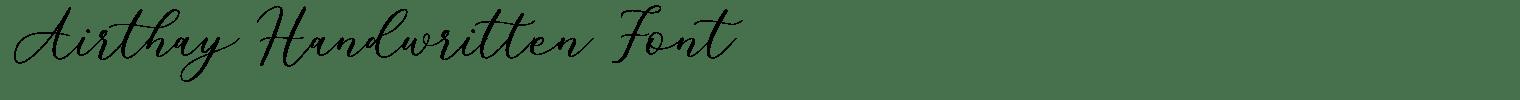 Airthay Handwritten Font