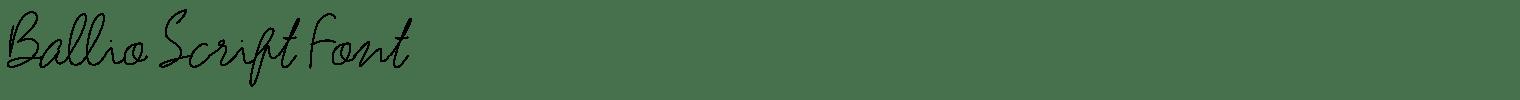 Ballio Script Font
