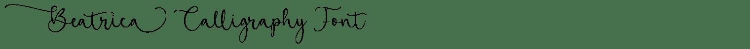 Beatrica Calligraphy Font