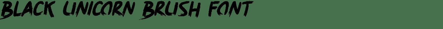 Black Unicorn Brush Font