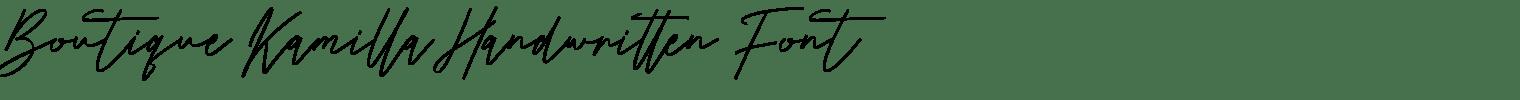 Boutique Kamilla Handwritten Font