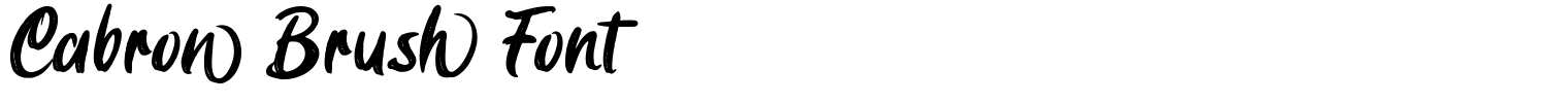 Cabron Brush Font