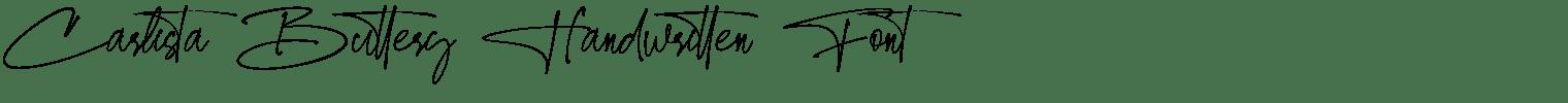 Carlista Buttery Handwritten Font