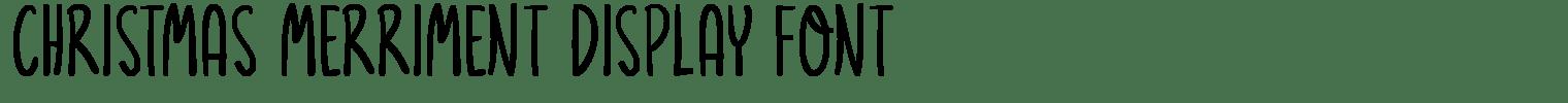 Christmas Merriment Display Font